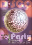 Retro disco poster Stock Image