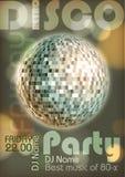 Retro disco poster Stock Photography