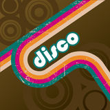 Retro disco style. Background template Stock Illustration