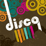 Retro disco style. Background template Royalty Free Illustration
