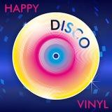 Retro Disco Vinil. Colorful Abstract Retro Disco Vinil Illustration with Mirror Ball Spots vector illustration
