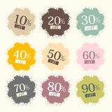 Retro Discount Labels Royalty Free Stock Images