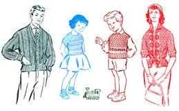 Retro disegni Fotografia Stock