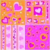 retro disegni del biglietto di S. Valentino royalty illustrazione gratis