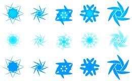 Retro disegni del fiocco di neve di inverno Fotografie Stock