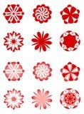 Retro disegni floreali Immagine Stock