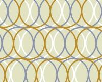 Retro disegno blu e marrone dei cerchi Fotografia Stock Libera da Diritti