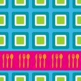 Retro disegno dei quadrati Immagini Stock Libere da Diritti