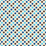 Retro disegno del puntino di Polka Immagini Stock