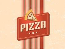 Retro disegno della pizza Fotografie Stock