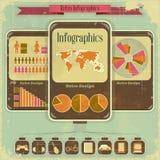 Retro disegno di Infographic Fotografia Stock Libera da Diritti