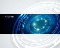 Retro disegno di vettore del cerchio di tecnologia Immagini Stock Libere da Diritti