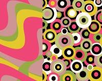 Retro disegno grafico brillantemente colorato Fotografie Stock Libere da Diritti