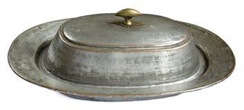 Retro dish. A retro dish from copper Royalty Free Stock Photos