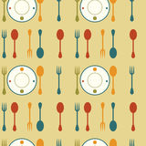 Retro Dishes Background Royalty Free Stock Images