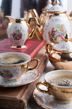 Retro dishware from the German Bavaria 19th century Stock Photography