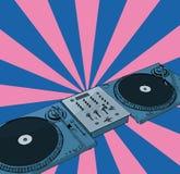 Retro- Diskjockey Lizenzfreie Stockfotos