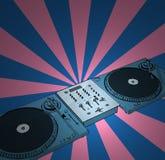 Retro- Diskjockey Lizenzfreies Stockfoto