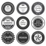 Retro distintivi dell'etichetta Fotografia Stock Libera da Diritti