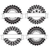Retro distintivi rotondi Fotografia Stock Libera da Diritti