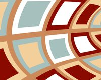 Retro distorted squares design in muted colors stock illustration