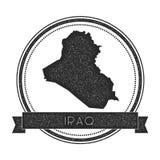 Retro distressed Iraq badge with map. Stock Image
