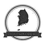 Retro distressed Korea, Republic of badge with. Stock Images