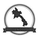 Retro distressed Lao People`s Democratic Republic. Royalty Free Stock Photography