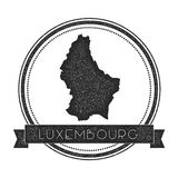 Retro distressed Luxembourg badge with map. Stock Image
