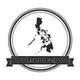Retro distressed Philippines badge with map. Stock Image