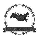 Retro distressed Russian Federation badge with. Stock Images