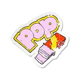 retro distressed sticker of a cartoon bubble gum royalty free illustration