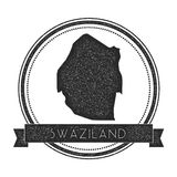 Retro distressed Swaziland badge with map. Royalty Free Stock Image