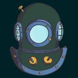 Retro diver helmet Royalty Free Stock Photos
