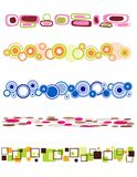Retro divider. Colorful retro divider collection with different circles and squares Stock Image