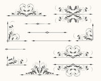 Retro Dividers and Corners set Stock Images