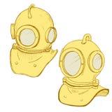 Retro diving suit helmet Royalty Free Stock Photos