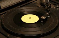 Retro dj's mixer. Part of vinyl soviet dj's mixer of 80s made in USSR Royalty Free Stock Photo