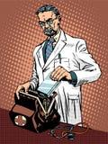 Retro doctor ambulance Royalty Free Stock Image