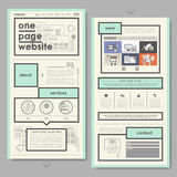 Retro document style one page website design Stock Photo