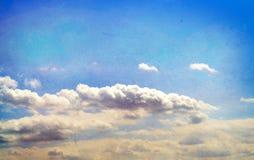 Retro documento designato del cielo Fotografia Stock