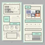 Retro documentstijl één het ontwerp van de paginawebsite