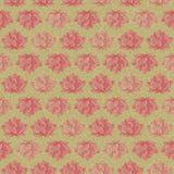 Retro Donkere Naadloze Patroon van de Bloem van Lotus Stock Foto