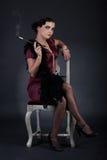 Retro donna Fotografie Stock Libere da Diritti