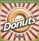 Retro Donuts-Affiche royalty-vrije illustratie
