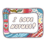 Retro doodle design hand drawn background Royalty Free Stock Photos