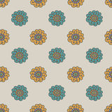 Retro doodle flower seamless pattern Stock Photography