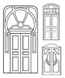 Retro doors set Royalty Free Stock Photo