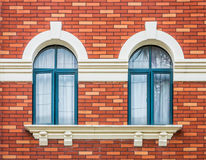 Retro- Doppelfenster Lizenzfreie Stockbilder