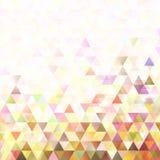 Retro doppio fondo geometrico del triangolo Fotografie Stock